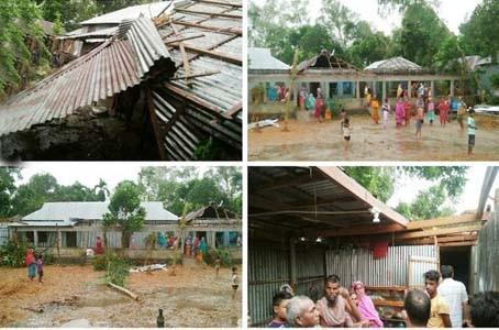 লণ্ডভণ্ড সিরাজগঞ্জের তিনটি গ্রাম