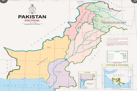 পাকিস্তানের নতুন মানচিত্র