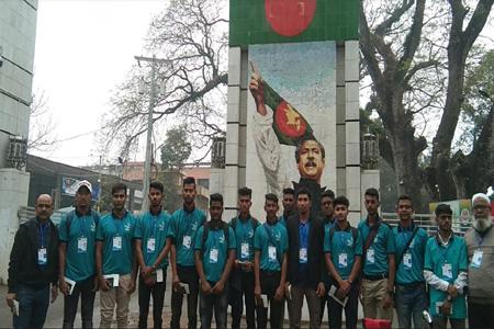 ভারতে টি- টুয়েন্টি খেলতে বাংলাদেশের অনুর্ধ ১৯ ক্রিকেট টিম ভারতে গেছেন