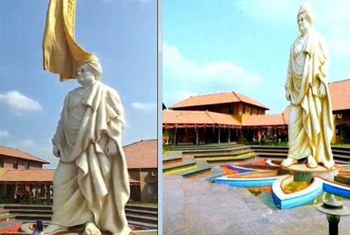 কর্ণাটকে উন্মোচন হলো স্বামী বিবেকানন্দের সবথেকে উঁচু মূর্তি