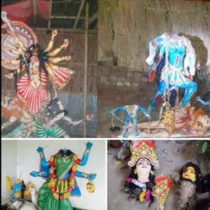 ধারাবাহিক ভাবে তিনটি মন্দিরের প্রতিমা ভাংচুর