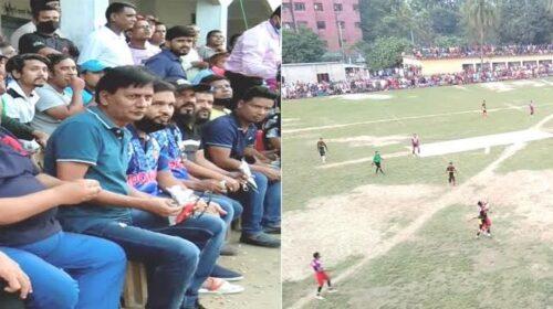 """দিনাজপুরে কাউন্সিলর কাপ"""" ফুটবল টুর্নামেন্টের ফাইনালে উপশহর একাদশ ।"""